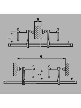 Високоефективна струбцина 3000x140 GSV300M