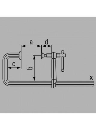 U-подібна суцільнометалева струбцина 250x120 GU25-12-6ZK
