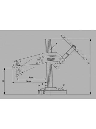 Настільний затискач 200x123-140 з маніпулятором GRS20-12