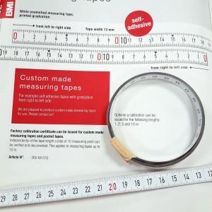 Измерительная BMI лента самоклеящаяся L=1м центр 0