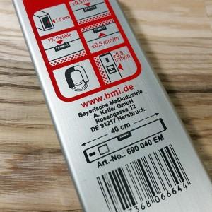 EUROSTAR BMI уровень с магнитами 0,5мм/м L=40см