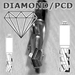 Фрези алмазні PCD для верстатів з ЧПУ
