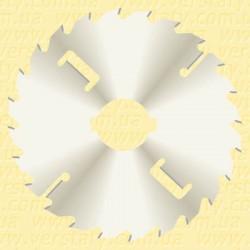 Диски пильні  для багатопилів з нікелевим покриттям і підрізними ножами