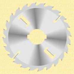 Диски пильні для багатопилів з підрізними ножами і тонким пропилом