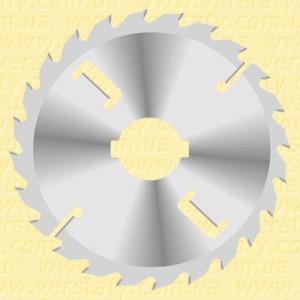 Пила для багатопилів з підрізними ножами і товстим пропилом D250 4x2,8x70 21x84 Z20+2+2 H65 A LM2504070K204