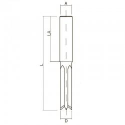 Фрези чотиризубі двонаправленого обертання для свердлильно-пазових верстатів