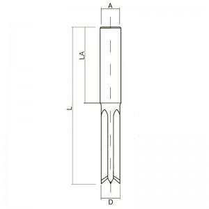 Довбальна фреза двонаправленого обертання D8 L100 Z4 PA08050