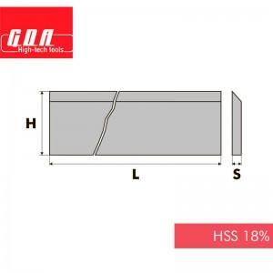 Ніж фугувальний HSS18% D610 L30 Z3 FC598610301