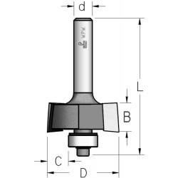 Фрези для відбору чверті з нижнім підшипником 2 ріжучі крайки