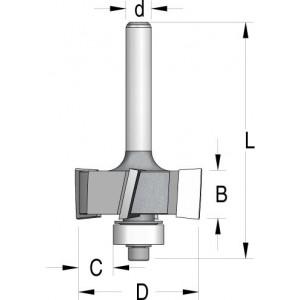Фреза четвертная с нижним подшипником D31,8 C9,5 В12,5 d12 E420952