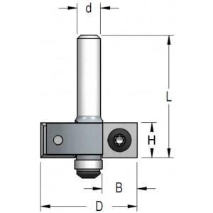 Фреза четвертная WPW со сменными ножами D35 H12 В12,7 d12 EM21272