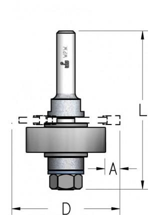 Оправка для фрез з комплектом підшипників L70 d6 NS79053