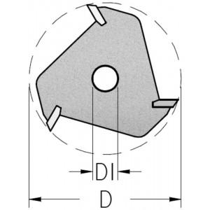 Фреза пазова дискова для пазування в чверті D47,6 В3 d₁7,94 Z3 N3U0300