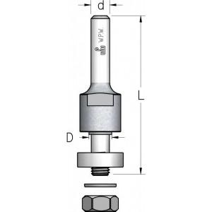 Оправка для дискових фрез з підшипником L68 d12 N000802