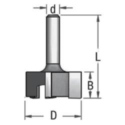 Фреза 3х-ножова (Z=3) для неглибокого площинного вирівнювання поверхні WPW (Ізраїль)