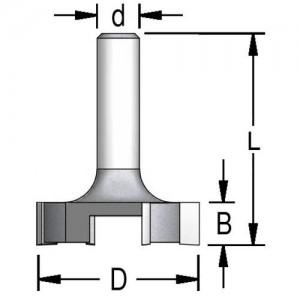 Фреза для вирівнювання площини 4х ножова D38,0 d12 P423802