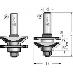Фрезы для мебельной обвязки (профиль-контрпрофиль), требующие разборки-сборки