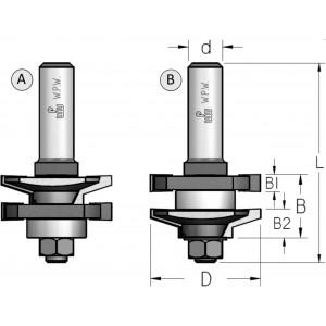 Фреза меблевої обв'язки, що потребує розбирання-збирання D41 d12 RG50002