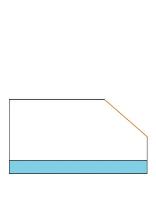 Фреза фасочная с нижним подшипником α45° D29 В8 d6 F042-45011