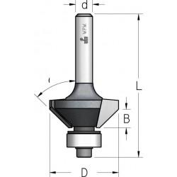 Фрези для зняття фасок з нижнім підшипником 2 ріжучі крайки