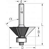 Фрези для зняття фасок тризубі з підшипником
