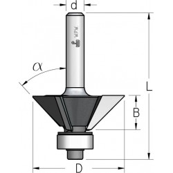 Фрези для зняття фасок з нижнім підшипником 3 ріжучі крайки