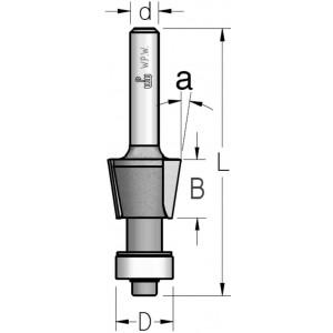 Фреза для зняття фасок * K-BITS α8° D16 В12 d6 SL20803K