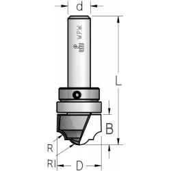 Фреза гравірувальна профільна врізна, верхній підшипник D19 В13 d6 DC05003