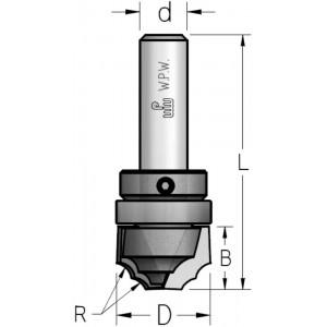Фреза гравірувальна профільна врізна, верхній підшипник D25,4 В16 d12 DL42542