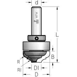Фрези гравірувальні профільні врізні з верхнім підшипником