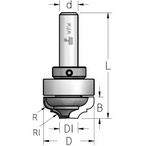 Фреза гравірувальна профільна врізна, верхній підшипник D35 В14 d12 DM35002