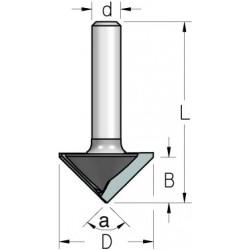 Фрези V-образні двозубі для гіпсокартону