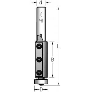 Фреза обгонна WPW, змінні ножі, нижній підшипник D19 В50 d12 FM19022