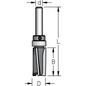Фреза обгонна з верхнім підшипником, викид вгору D9,5 В12 d6 Z3 P3FU2103
