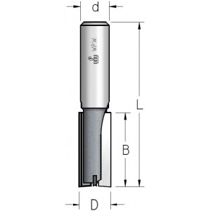Фреза пазова з торцьовим ножем K-BITS D8 В19 d8 Z2+1 PT30805