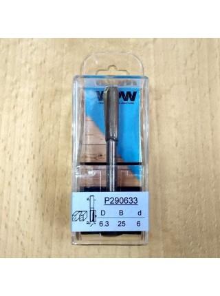 Фреза пазова двозуба D6,3 В25 d6 P290633