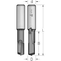 Фрези пазові з аксіальною двонаправленою ріжучою крайкою