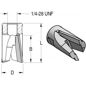 Фреза пазова збірна неглибокого фрезерування D12,7 В16 MB08000