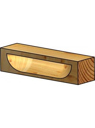 Фреза під приховану меблеву ручку напівкругла D26 В9,5 d6 RO10003