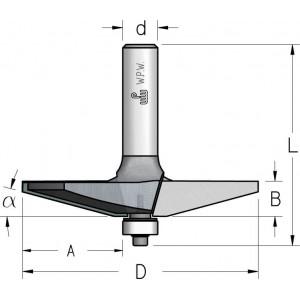 Фреза для обробки фільонок D66,7 В16 d12 RK20002