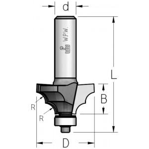 Фреза профільна кальовочна, нижній підшипник D28,6 В13 d12 RL04002