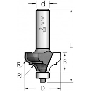 Фреза профільна кальовочна, нижній підшипник D20 В10 d6 MRM0303