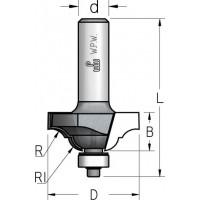 Фрези профільні кальовочні з нижнім підшипником серії RN