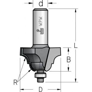Фреза профільна кальовочна, нижній підшипник D35 R6,3 В19 d8 RS06005