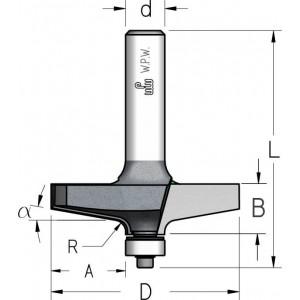 Фреза профильная с нижним подшипником D61 В14 d12 RK04102