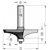 Фрези профільні з нижнім підшипником R43
