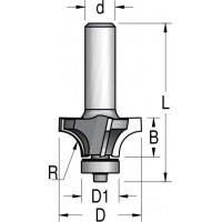 Фрези радіусні чотиризубі з нижнім підшипником