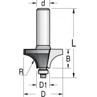 Фрези радіусні двозубі зі зменшеним нижнім підшипником