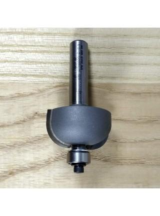 Фреза напівгалтельна з нижнім підшипником R9,5 D28,6 В14 d12 RZ10002