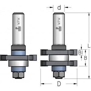Фреза з'єднання шип-паз, що потребує розбирання-збирання D41 d12 RG60002